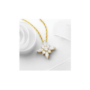 Photo of Pave Spring Blossom Pendant Jewellery Woman