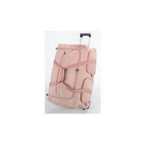 Photo of Solar Dusky Pink Wheeled Trolley Holdall Luggage
