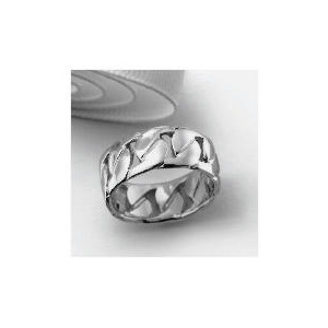 Photo of Silver Chain Link Gents Ring Medium Jewellery Men