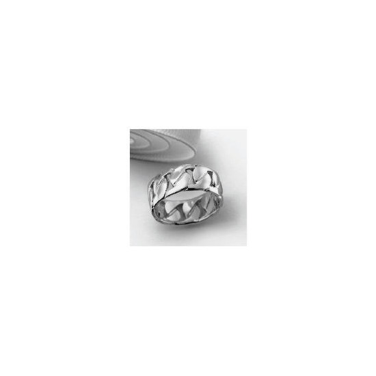Silver Chain Link Gents Ring Medium