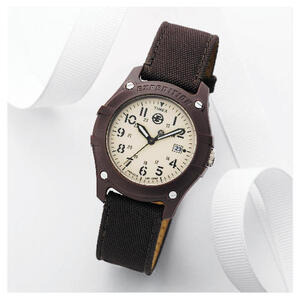 Photo of Timex Expedition Brown Canvas Strap Watch Watches Man