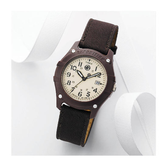 Timex Expedition Brown Canvas Strap Watch