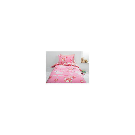 Tesco Kids Hippy Cat Single Duvet