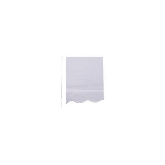 Scalloped Edge Roller Blind 60x160cm White