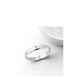 18ct White Gold 3mm Wedding Band, N Reviews