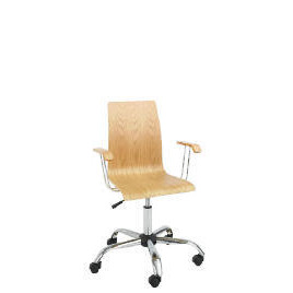 Padova Home Office Chair with Arms, Oak Reviews