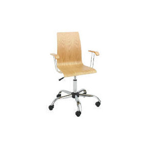Photo of Padova Home Office Chair With Arms, Oak Office Furniture