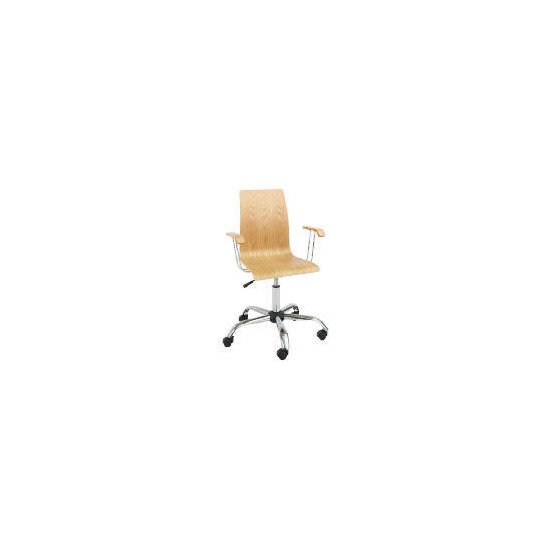 Padova Home Office Chair with Arms, Oak