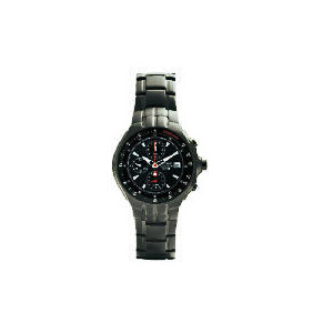 Photo of Pulsar Mens Black ION Plated Chronograph Watch Jewellery Woman