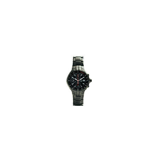 Pulsar Mens Black ION Plated Chronograph Watch