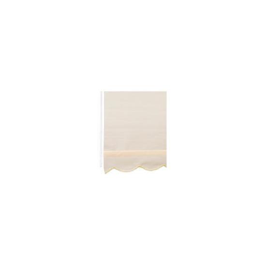 Scalloped Edge Roller Blind 60x160cm Cream
