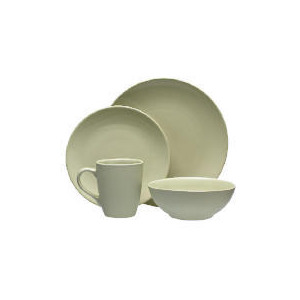 Photo of Tesco Mono Dinnerware Set 16 Piece, Green Dinnerware