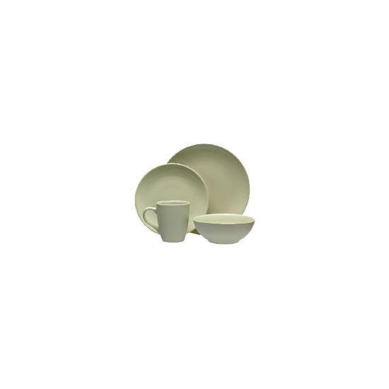 Tesco Mono Dinnerware Set 16 piece, Green