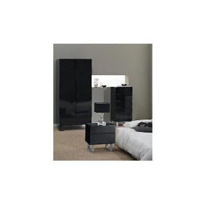 Photo of Costilla Bedside Chest, Black Furniture