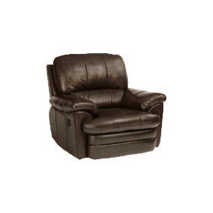 Photo of Apollo Leather Recliner Armchair, Black Furniture