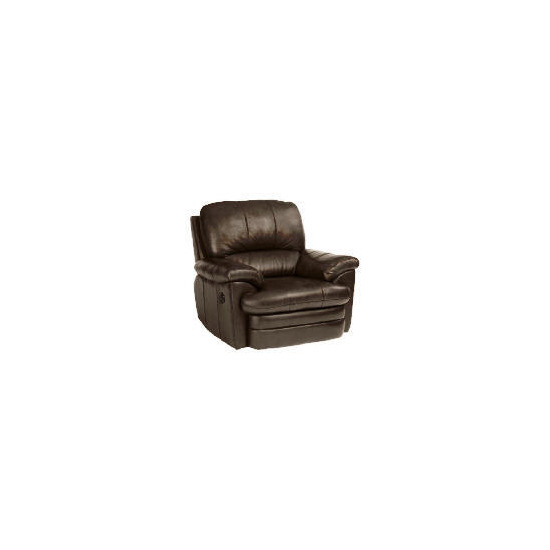 Apollo Leather Recliner Armchair, Black
