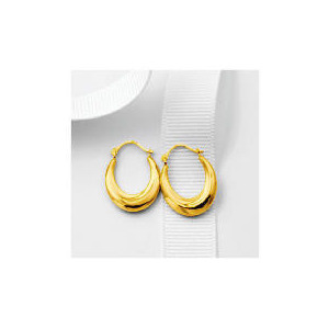 Photo of 9CT Gold Small Oval Creoles Jewellery Woman