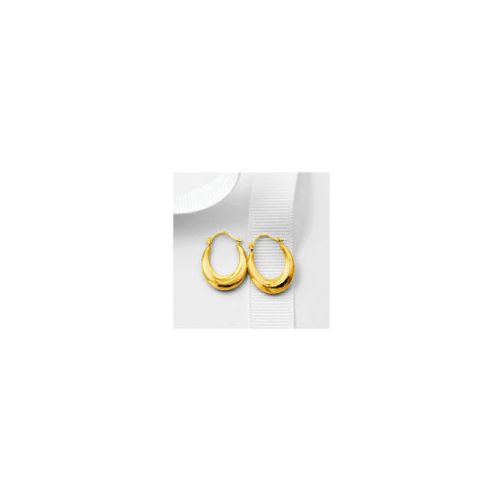 9ct Gold Small Oval Creoles