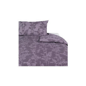 Photo of Tesco Bamboo Print Duvet Set Single, Mocha Bed Linen