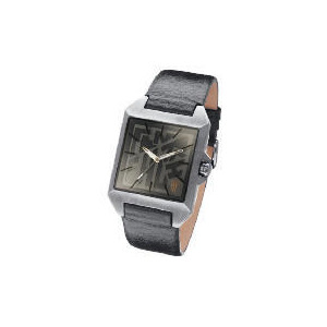 Photo of Fenchurch Mens Logo Face Brown Strap Watch Jewellery Woman