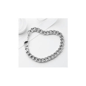Photo of Stainless Steel Curb Bracelet Jewellery Woman