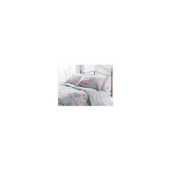 Tesco Amelia Patch Print Duvet Set Kingsize, Pink