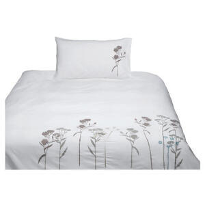 Photo of Tesco Wild Flowers Embroidered Duvet Set Single Bedding