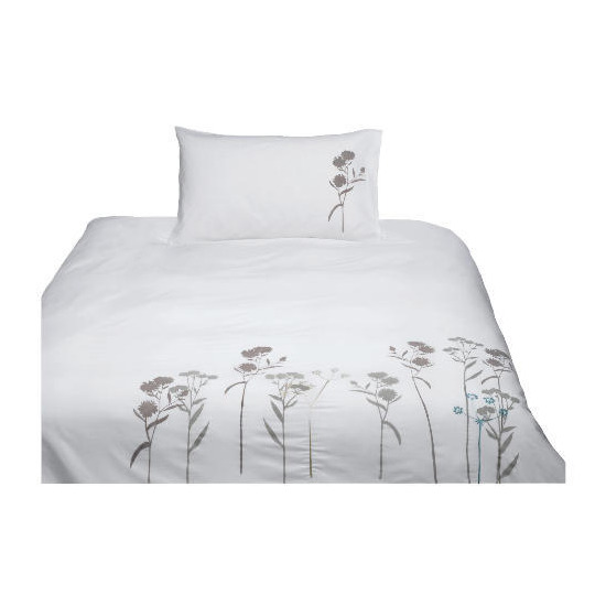 Tesco Wild Flowers Embroidered Duvet Set Single
