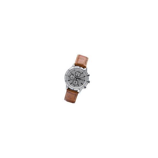 Lorus Mens Brown Strap Chronograph Watch