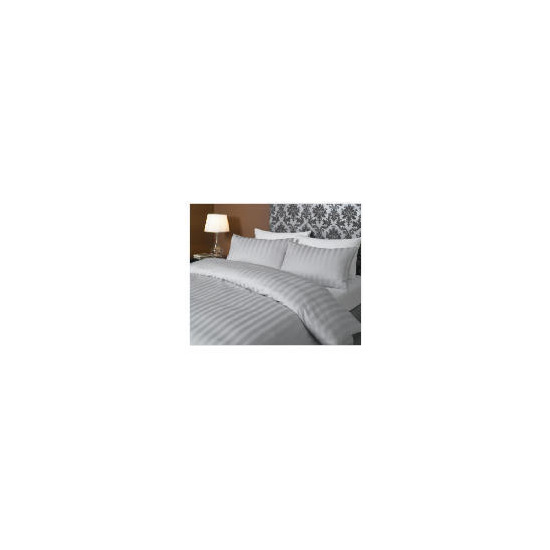 Hotel 5* Stripe Duvet set Kingsize, Grey