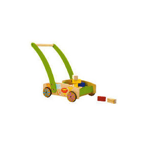 Photo of Tesco Little Steps Wooden Walker With Blocks Toy