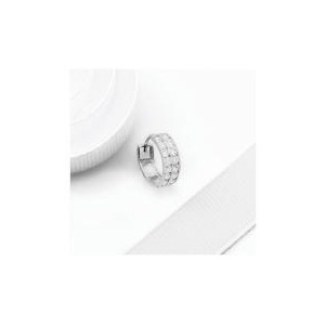 Photo of 9CT White Gold Cubic Zirconia Set Huggie Jewellery Woman