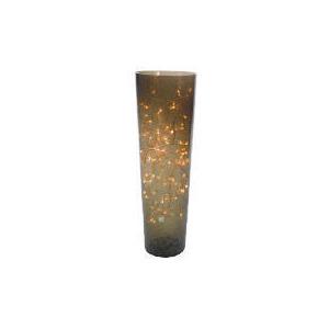 Photo of Tesco Crackle Glass Vase Lamp Medium Lighting
