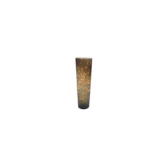 Tesco Crackle Glass Vase Lamp Medium