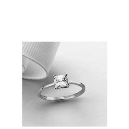 9ct White Gold Princess Cut Cubic Zirconia Solitaire Ring, N Reviews