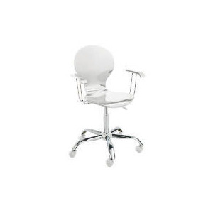 Photo of Viva High Gloss Home Office Chair, White Furniture