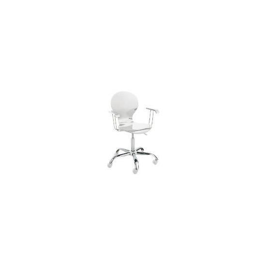 Viva High Gloss Home Office Chair, White