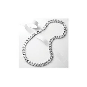 Photo of Silver Heavy Curb Chain Jewellery Men