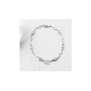Photo of Silver Cubic Zirconia Open Link Bracelet Jewellery Woman