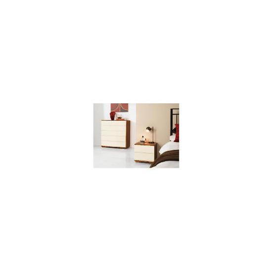 Ferrara Bedside Chest - Cream & Walnut