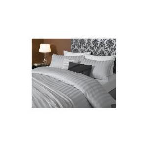 Photo of Hotel 5* Stripe Duvet Set Superking, Grey Bed Linen