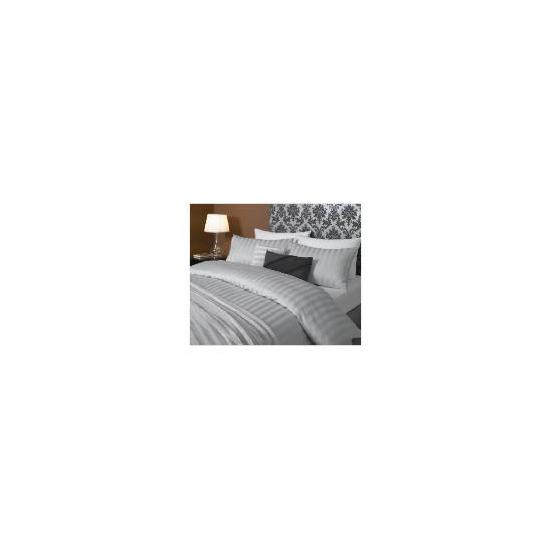 Hotel 5* Stripe Duvet set Superking, Grey