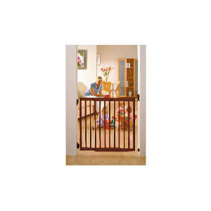 Photo of Lindam Dark Extending Wooden Safety Gate Baby Product