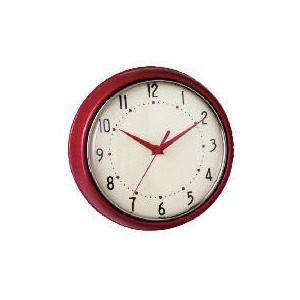 Photo of Tesco Retro Red Clock Clock