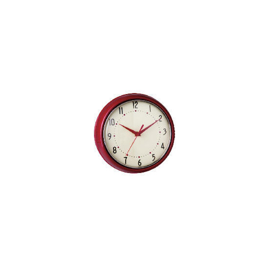 Tesco Retro Red Clock