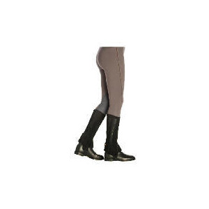 Photo of Harry Hall Suede Half Chaps Black Large Sports and Health Equipment