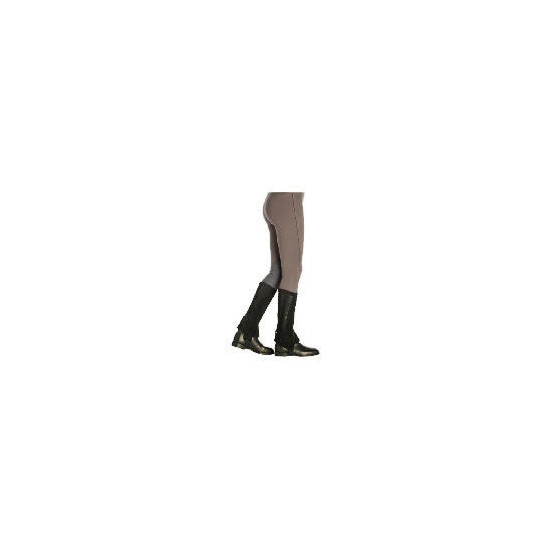 Harry Hall Suede Half Chaps Black Large