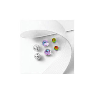 Photo of Silver Crystal and Ball 3 Stud Set Jewellery Woman