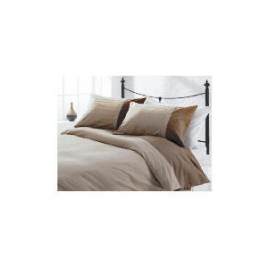 Photo of Tesco Herringbone Print Duvet Set Double, Dark Natural Bed Linen