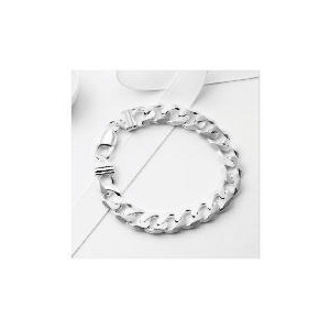 Photo of Silver Gents Heavy Curb Bracelet Jewellery Woman